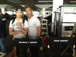 Beverly Hills Cop on set